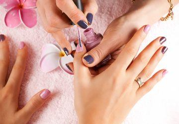 Bright stylish manicure with colored nail